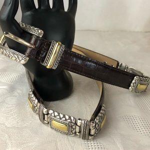 Brighton croc embossed belt